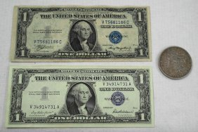 United States Silver Dollar And Silver Certificates