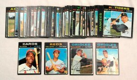 1971 Topps Baseball Cards - Partial Set Of 62