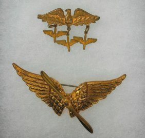 Two Pieces Of Solid Brass Wwii Army Air Forces