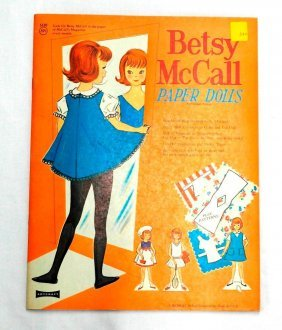 Vintage Betsy Mccall - Unique Paper Doll Book -
