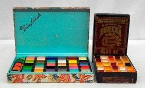 2 Boxes Of Vintage Unused Spools Of Thread