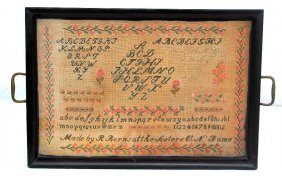 Cross Stitch Sampler Handcrafted By 9-year-old Girl In