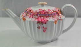 "Spode China 4-cup Teapot Made In England - ""irene"""