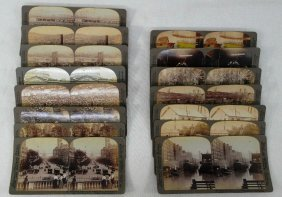 Lot Of 15 Vintage Stereo Scope Photo Cards