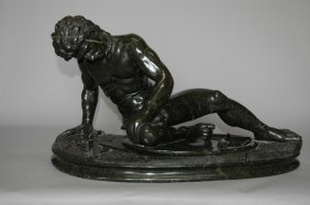 "Black Marble Statue ""Dying Gaul"""