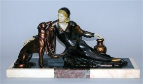 Art Deco Polychrome Bronze Sculpture