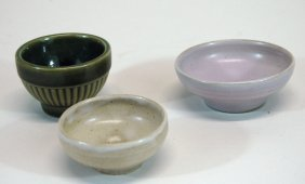 North Dakota School Of Mines Pottery 3 Pcs.