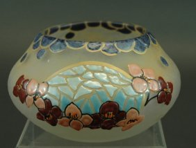 Legras French Cameo Art Glass Bowl