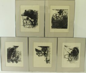 Jim Dine, American 1925- (5) Lithographs