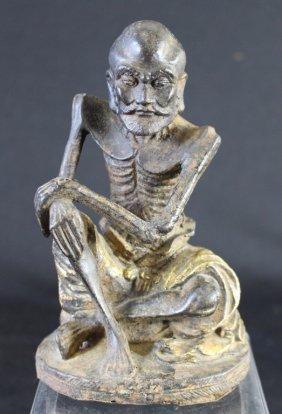 Chinese Iron Figure Of Lohan