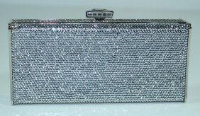 Judith Leiber Full Bead Evening Clutch Minaudiere