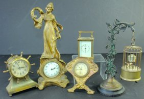 Five Cabinet Clocks