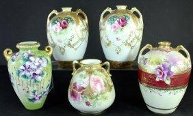 Five Pieces Nippon Porcelain
