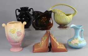 Six Pieces Ohio Art Pottery Group