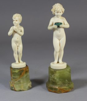 Two Ferdinand Preiss Ivory Figurines