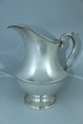Poole Sterling Silver Water Pitcher