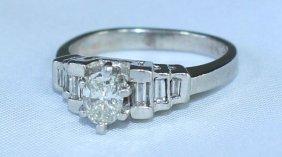Lady's Platinum And Diamond Ring