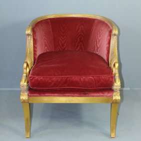 Neo-classical Egyptian Revival Style Armchair