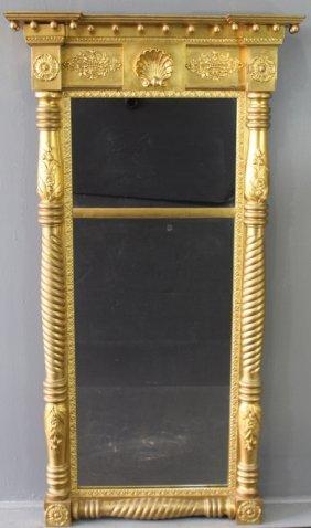 Late Federal Period Trumeaux Mirror