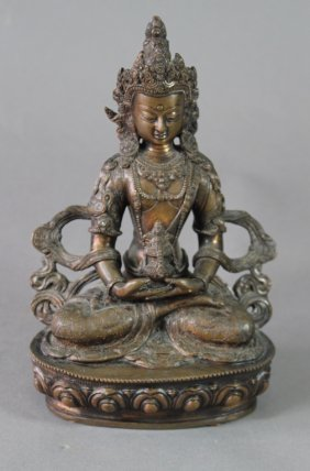Thai Bronze Devotional Deity