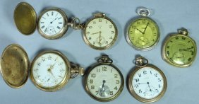 Seven 14k Gold Filled Pocket Watches