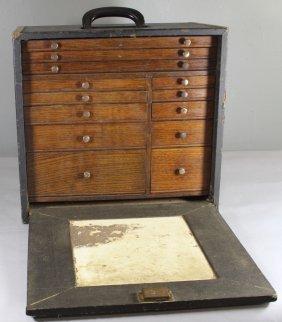 Machinist's Multi-drawer Oak Tool Chest
