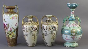 Four Pieces Of Japanese Porcelain Vases