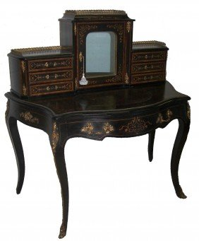Ca. 1860 RJ Horner Bronze Mounted And Inlaid Desk