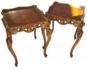 Pr. C1900 Am. Satinwood End Tables