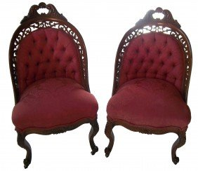 C1860 Am. Belter Rosewood Laminated Sidechairs