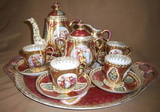 401 19th c 12 pc royal vienna tea set the best lot 401 - Vaisselle de luxe marque ...