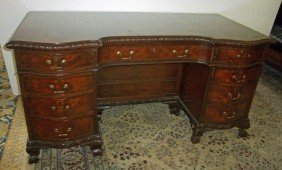 C1900 English Mahogany Executive Desk