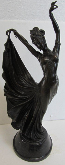 20th C. Bronze Of Dancer