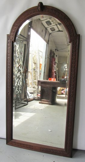 Large Detail Carved Gothic Mirror