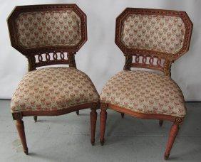 Pr. 19th C. Italian Paint Decorated Sidechairs