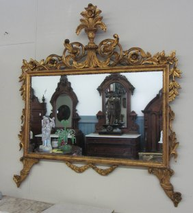 C1900 Detail Carved Giltwood Mirror