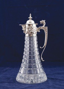 Silver And Crystal Claret Jug