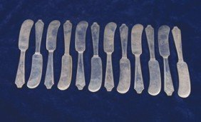 Set Of Twelve Sterling Silver Handled Knives