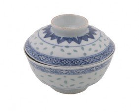Chinese Blue And White Bowl And Lid