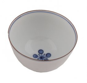 Four Japanese Blue And White Tea Bowls