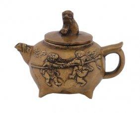 Small Chinese Bronze Tea Pot