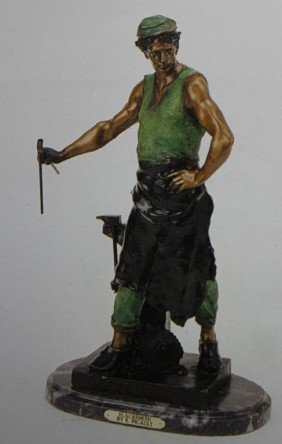 """BLACKSMITH"" BRONZE SCULPTURE - PICAULT"