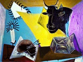 "PICASSO ""STILL LIFE WITH CANDLE,PALETTE AND BLA"