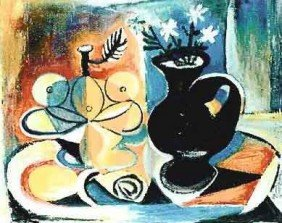 "PICASSO ""FRUIT WITH VASE OF FLOWERS"""