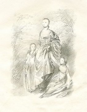 GAINSBOROUGH LITHOGRAPH (MOTHER AND DAUGHTERS)