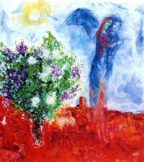 """MARC CHAGALL """"COUPLE ABOVE ST. PAUL"""""""