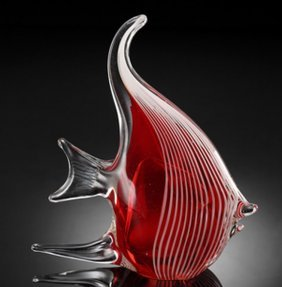 ART GLASS ANGEL FISH�