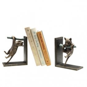 CLIMBING CATS BOOKENDS