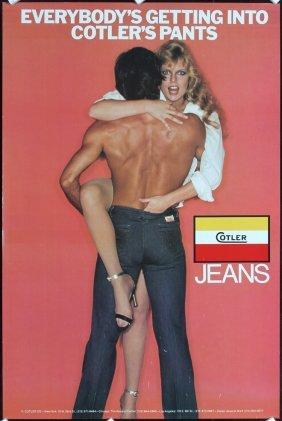 Original 1980s Cotler´s Jeans Advertising Poster : Lot 79