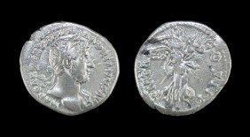 Roman Hadrian - Victory - Denarius